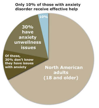 Anxiety disorder pie chart