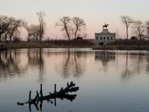 A picturesque lagoon near the Farm in the Zoo along Chicago's lakefront near Richard I. Feingold & Associates, P.C.
